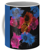 Bursting Comets 2017 - Blue And Pink On Black Coffee Mug
