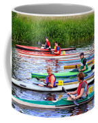 Burton Canoe Race At The Start Coffee Mug
