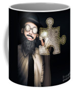 Businessman Puzzle Solving With Digital Solutions Coffee Mug