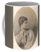 Bust Of A Boy In Profile Holding A Sword Coffee Mug