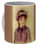 Bust Of A Woman Wearing A Hat 1881 Coffee Mug