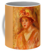 Bust Of A Young Girl In A Straw Hat 1917 Coffee Mug