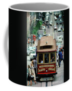 Busy Day On The California Street Cable Car Incline Coffee Mug