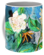 Busy Gardenias Coffee Mug