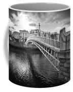 Busy Ha'penny Bridge 2 Bw Coffee Mug