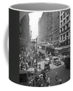 Busy State Street In Chicago Coffee Mug