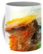 Butte At Sunset Coffee Mug