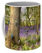 Butterflies In A Bluebell Woodland Coffee Mug