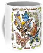 Butterflies Moths Caterpillars Coffee Mug