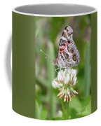 Butterfly And Bugs On Clover Coffee Mug