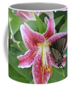 Butterfly And Lilly Coffee Mug
