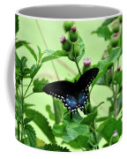 Butterfly And Mossy Pond Coffee Mug