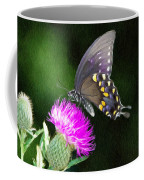 Butterfly And Thistle Coffee Mug