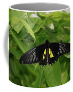 Butterfly Black And Yellow Coffee Mug