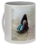 Butterfly Blue On Groovy 2 Coffee Mug