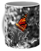 Butterfly Color On Black And White Coffee Mug
