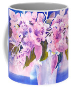 Pink Butterfly Flowers Coffee Mug