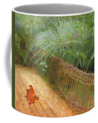 Butterfly In A Small Zen Sand Garden Coffee Mug