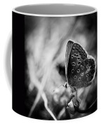 Butterfly In Black And White Coffee Mug by Mirko Chessari