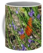 Butterfly In Blue Coffee Mug