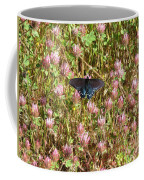 Butterfly In Clover Coffee Mug