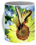 Butterfly Meets Sunflower Coffee Mug