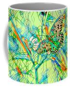 Butterfly Mosiac Coffee Mug
