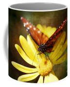 Butterfly On A Daisy  Coffee Mug