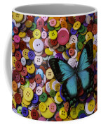 Butterfly On Buttons Coffee Mug