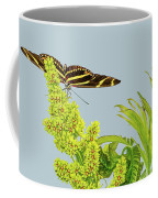 Butterfly On Flower Cluster Coffee Mug