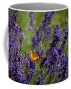 Butterfly On Lavender Coffee Mug