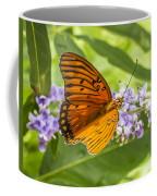 Butterfly On Purple Coffee Mug