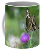 Butterfly On Thistle Flower Coffee Mug