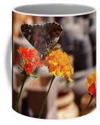 Butterfly On Yellow Flower Coffee Mug