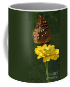 Butterfly On Yellow Coffee Mug