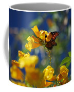 Butterfly Pollinating Flowers  Coffee Mug