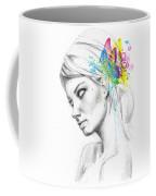 Butterfly Queen Coffee Mug by Olga Shvartsur