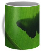 Butterfly Silhouette On Leaf Coffee Mug