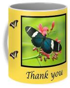 Butterfly Thank You Card Coffee Mug
