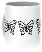 Butterfly Trio  Coffee Mug