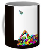 Butterfly With A Nude Coffee Mug