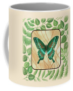 Butterfly With Leaves 2 Coffee Mug