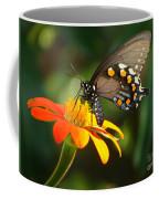 Butterfly With Orange Flower Coffee Mug