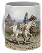 Buttero Riding In The Roman Campagna Coffee Mug by Celestial Images