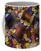 Buttons With Thread Coffee Mug