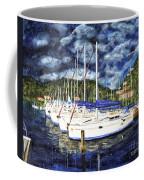 Bvi Sailboats Painting Coffee Mug