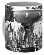 Bw Fountain At The Getty Villa Coffee Mug