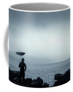 By The Sea In The Wind And Rain Coffee Mug