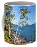 By The Shores Of Gitche Gumee Coffee Mug by Kristin Elmquist