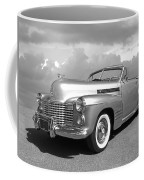 Bygone Era - 1941 Cadillac Convertible In Black And White Coffee Mug
